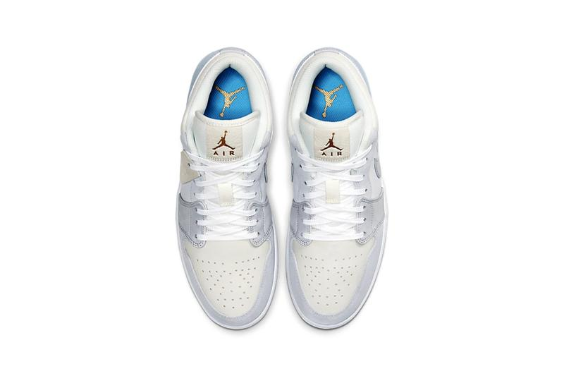 nike air jordan 1 low paris white grey sneakers footwear shoes sneakerhead