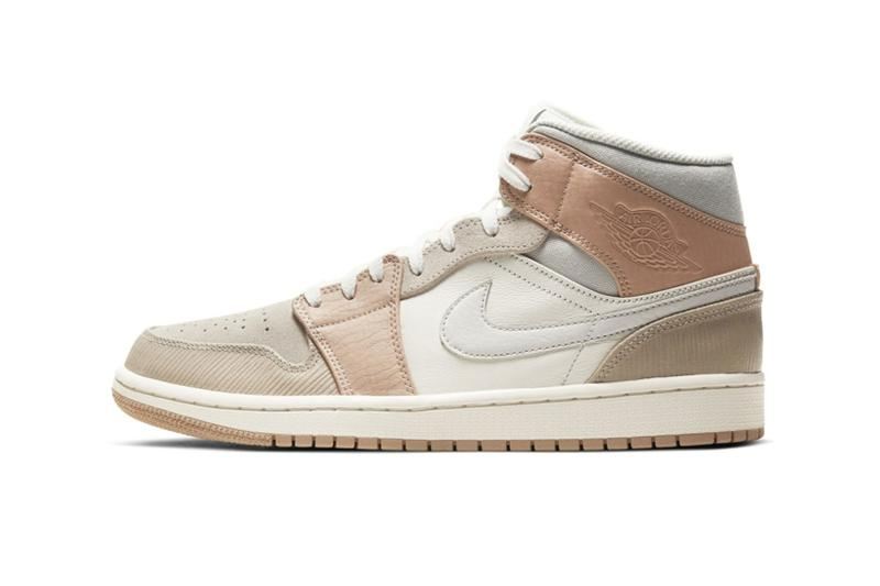 nike air jordan 1 mid milan sneakers pastel beige tan off white