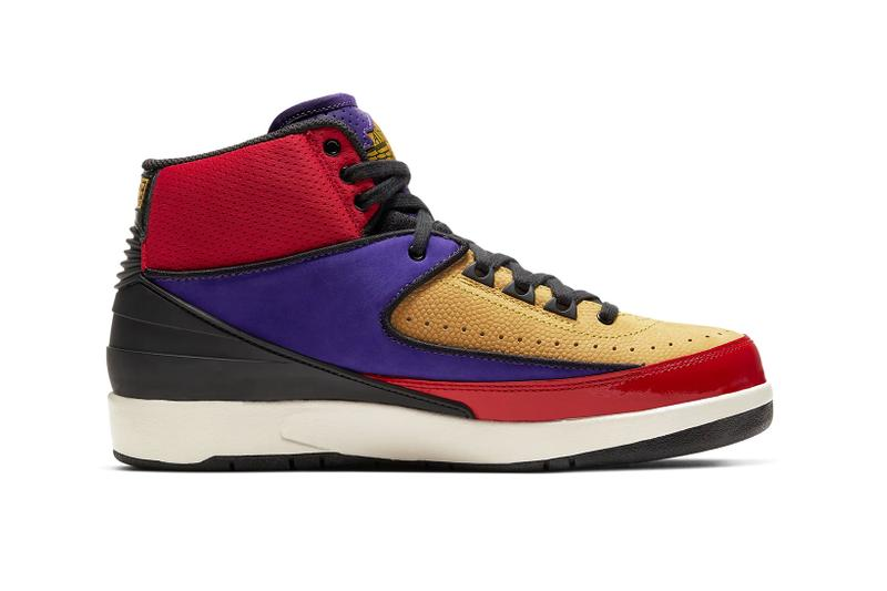 nike air jordan 2 womens sneakers action red cosmic purple release date