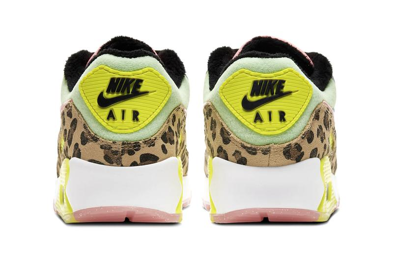 nike air max 90 womens sneakers leopard print pastel blue neon green pink shoes footwear sneakerhead