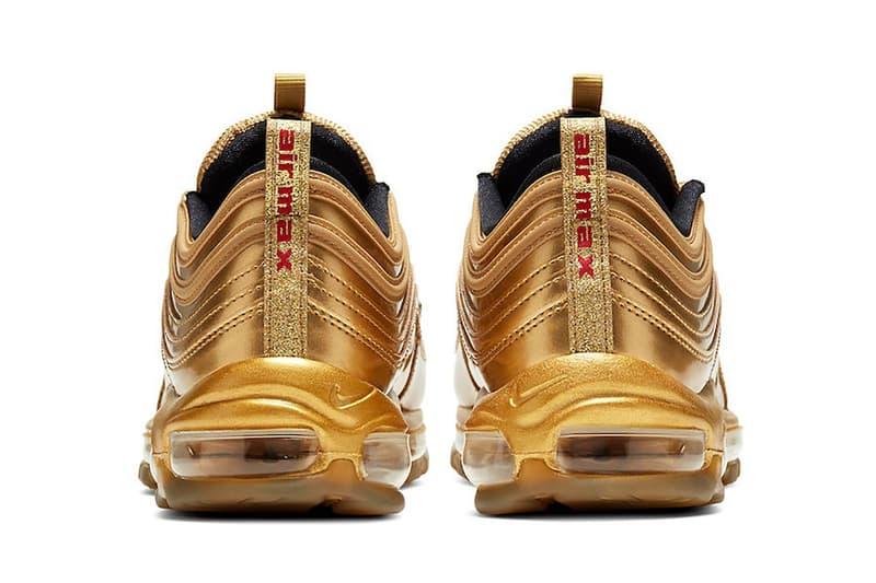 nike air max 97 sneakers gold olympics shoes footwear sneakerhead