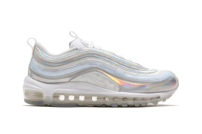 Nike Air Max 97 Metallic Iridescent Silver White Sneaker Shoe Trainer
