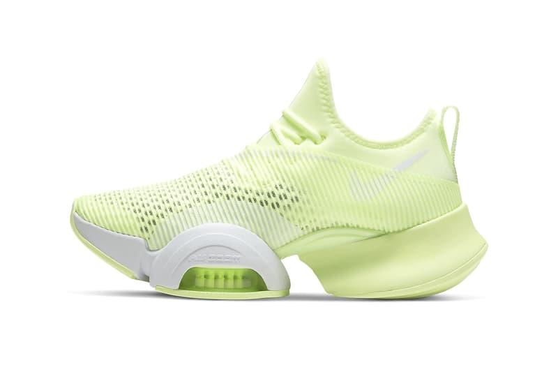 nike air zoom superrep womens hiit class sneakers lime green shoes sneakerhead footwear