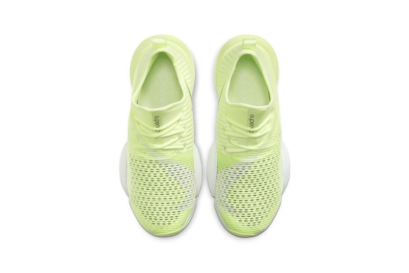 nike air zoom superrep womens hiit class sneakers white lime green