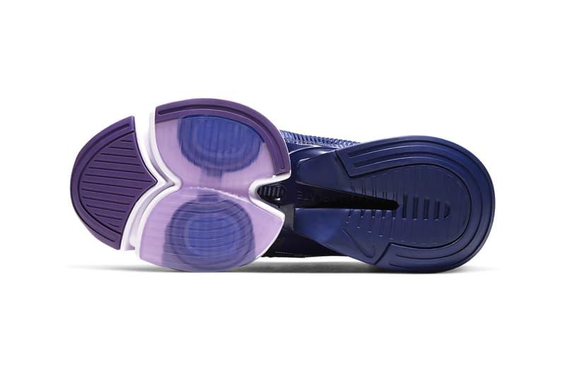 nike air zoom superrep womens hiit class sneakers white purple