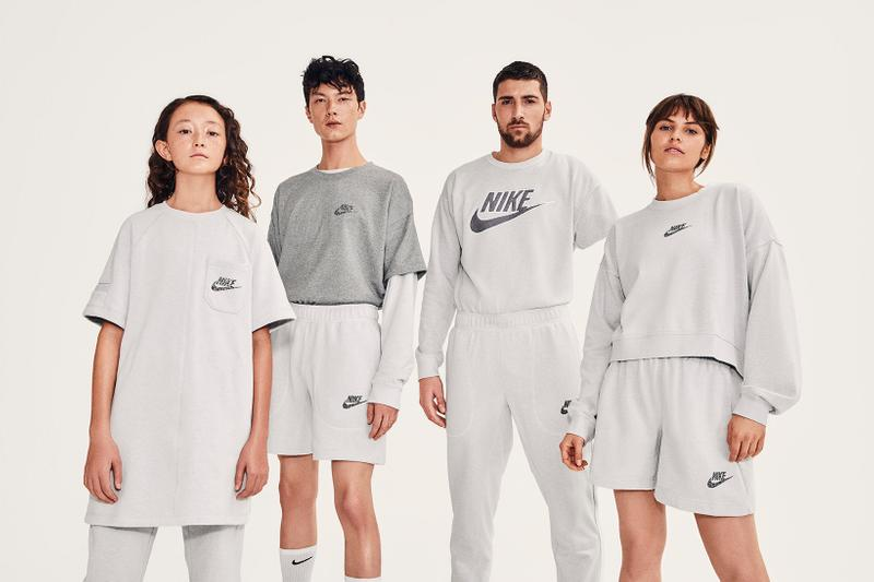 nike move to zero recycled sustainable collection hoodies tshirts joggers sweaters shorts apparel sportswear athleisure