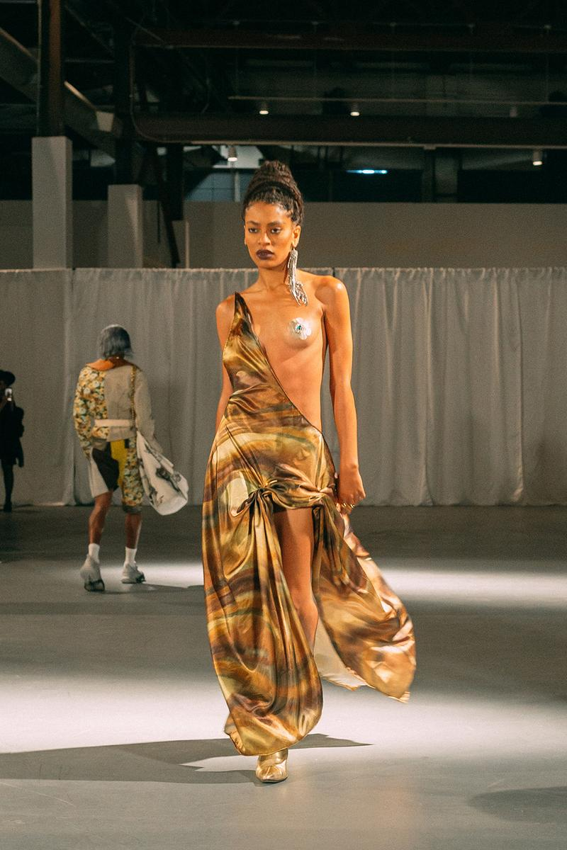 no sesso pierre davis arin hayes autumn randolph fall winter collection los angeles runway show dress