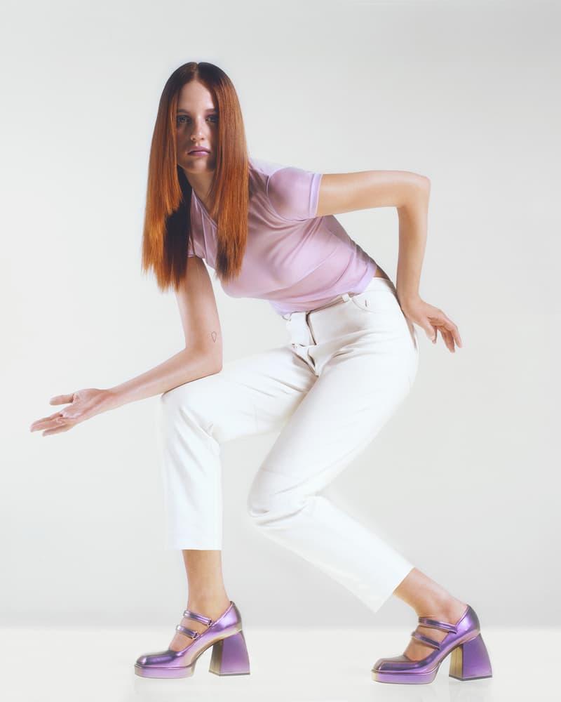 Nodaleto Spring Summer 2020 Lookbook Lavender Purple Metallic High Heels