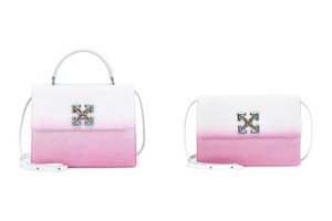 """Picture of Off-White™ Reworks the Jitney 2.8 and 1.0 Bags in Gradient """"White Fuschia"""""""