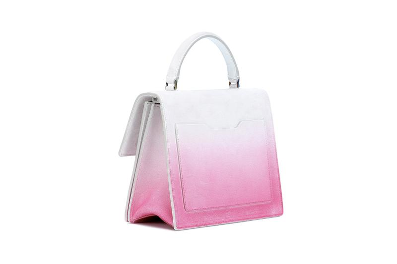 off white jitney tote crossbody bag white fuchsia pink gradient virgil abloh