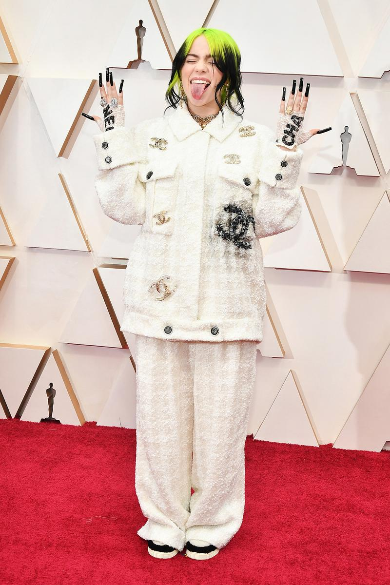 Billie Eilish Oscars Red Carpet 92nd Annual Academy Awards Chanel White Suit