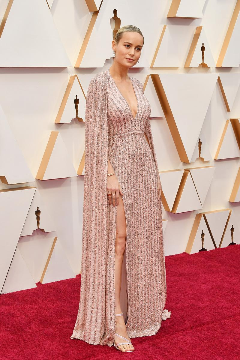 Brie Larson Celine Dress Oscars Red Carpet 92nd Annual Academy Awards