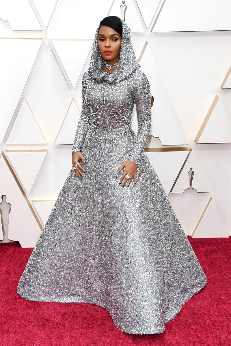 Janelle Monáe Silver Sparkly Dress Oscars Red Carpet 92nd Annual Academy Awards