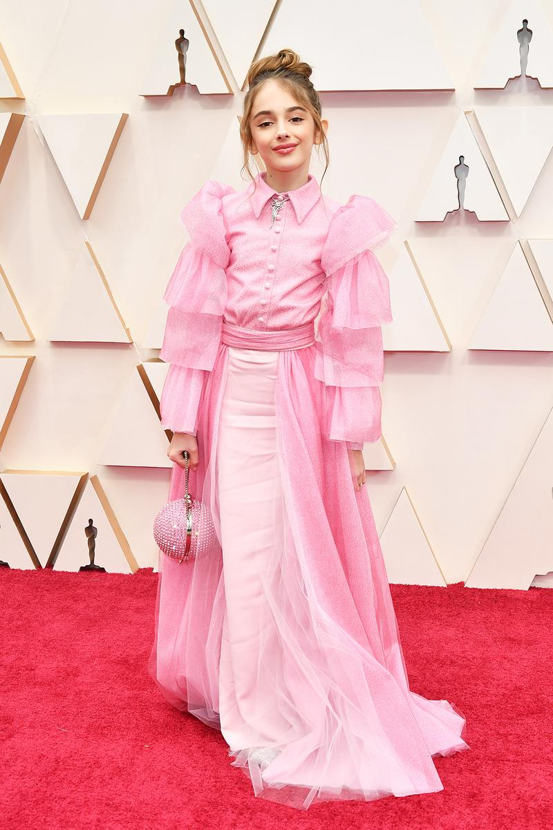 Julia Butters Pink Dress Oscars Red Carpet 92nd Annual Academy Awards