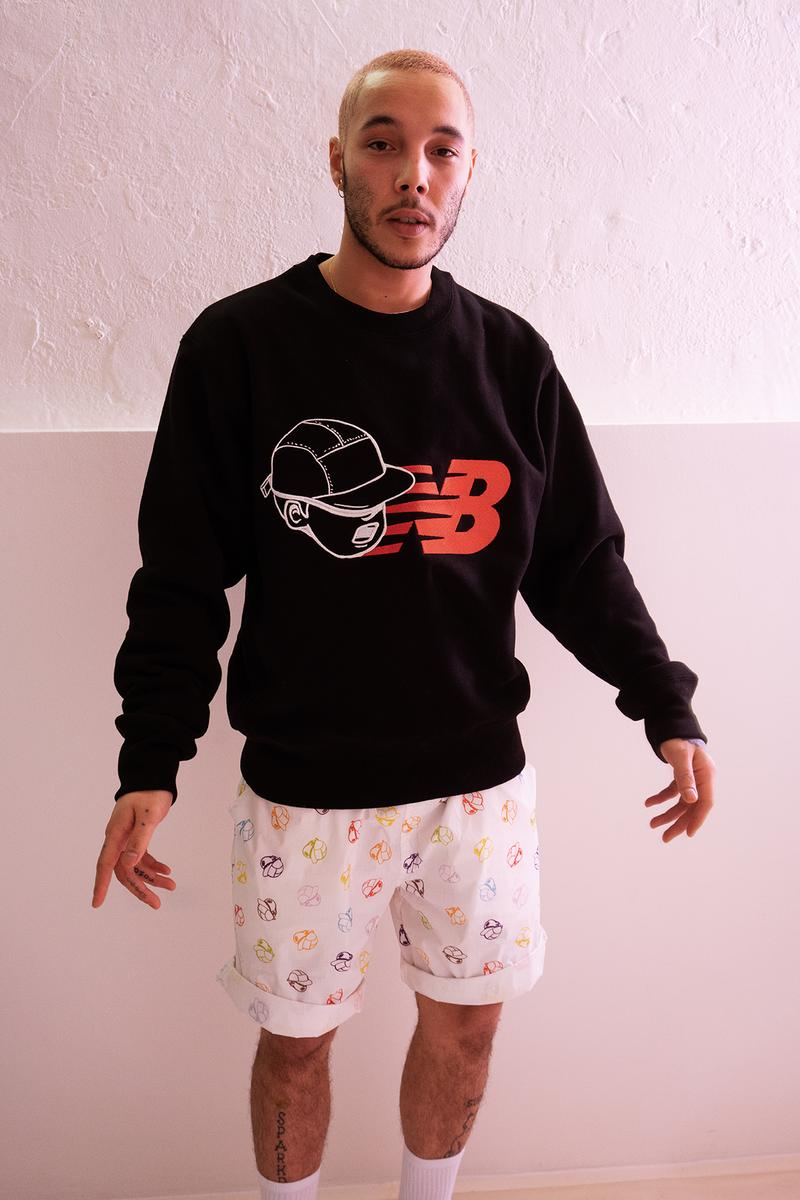 PaperBoy Paris x New Balance Collection Collaboration Pullover Black
