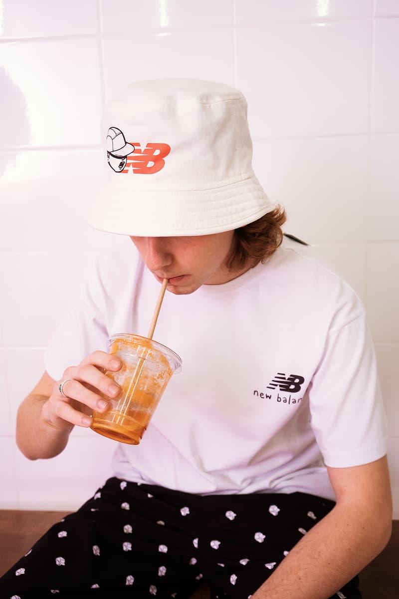 PaperBoy Paris x New Balance Collection Collaboration Bucket Hat T-Shirt White