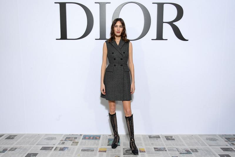 paris fashion week celebrity style dior alexa chung