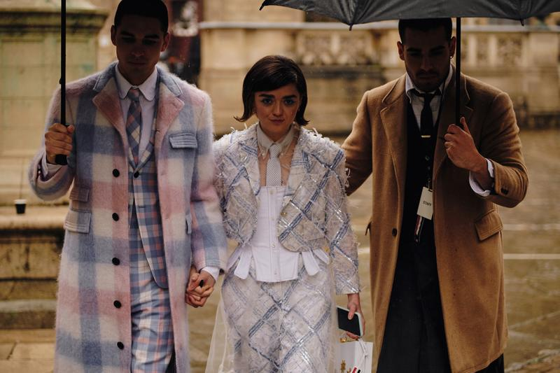 Paris Fashion Week Fall/Winter 2020 Street Style Maisie Williams Thom Browne