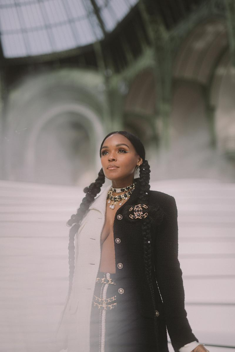 paris fashion week celebrity looks chanel janelle monae