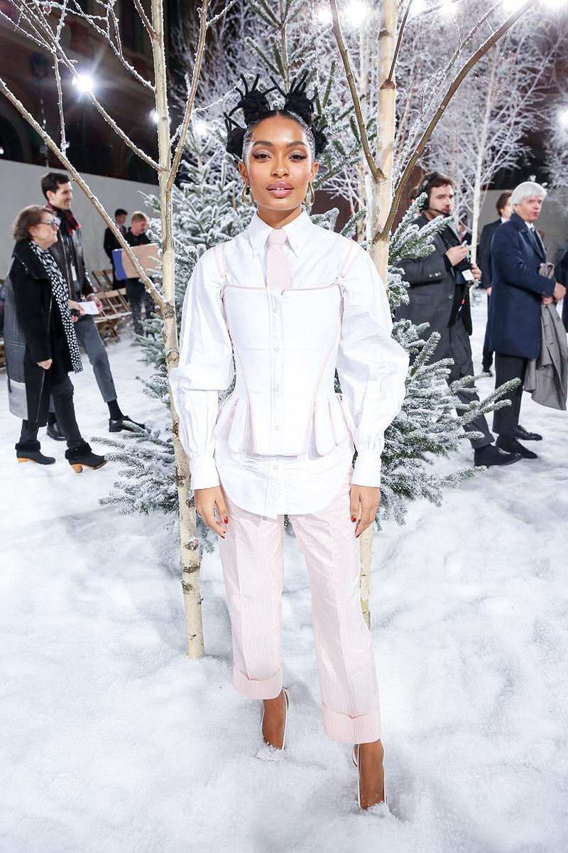 paris fashion week celebrity looks thom browne yara shahidi