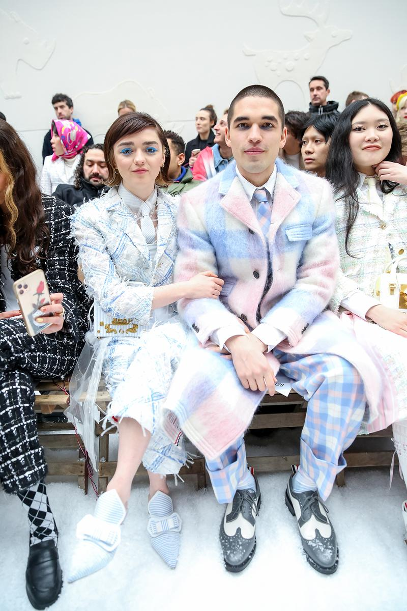 paris fashion week celebrity looks thom browne maisie williams reuben selby