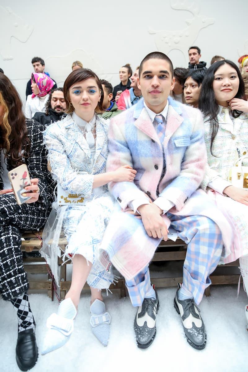 paris fashion week celebrity looks thom browne maisie williams reuben selby