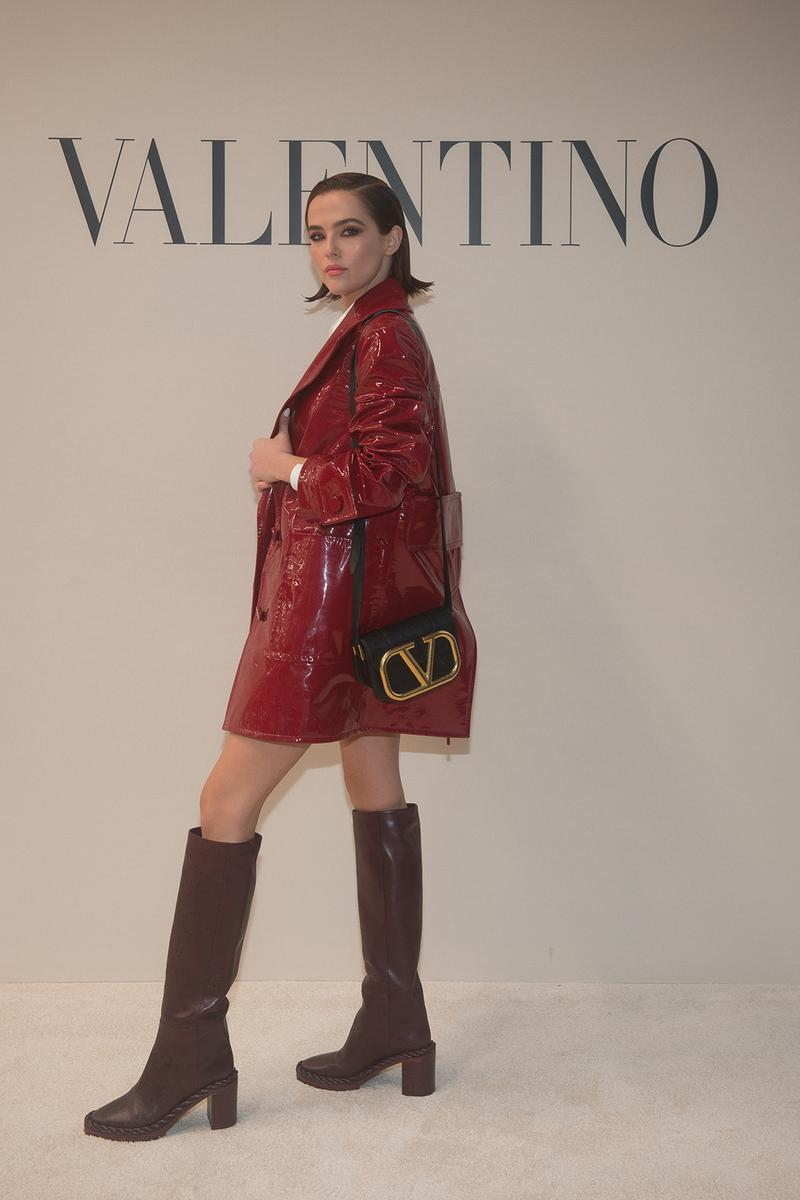 paris fashion week celebrity looks valentino zoey deutch