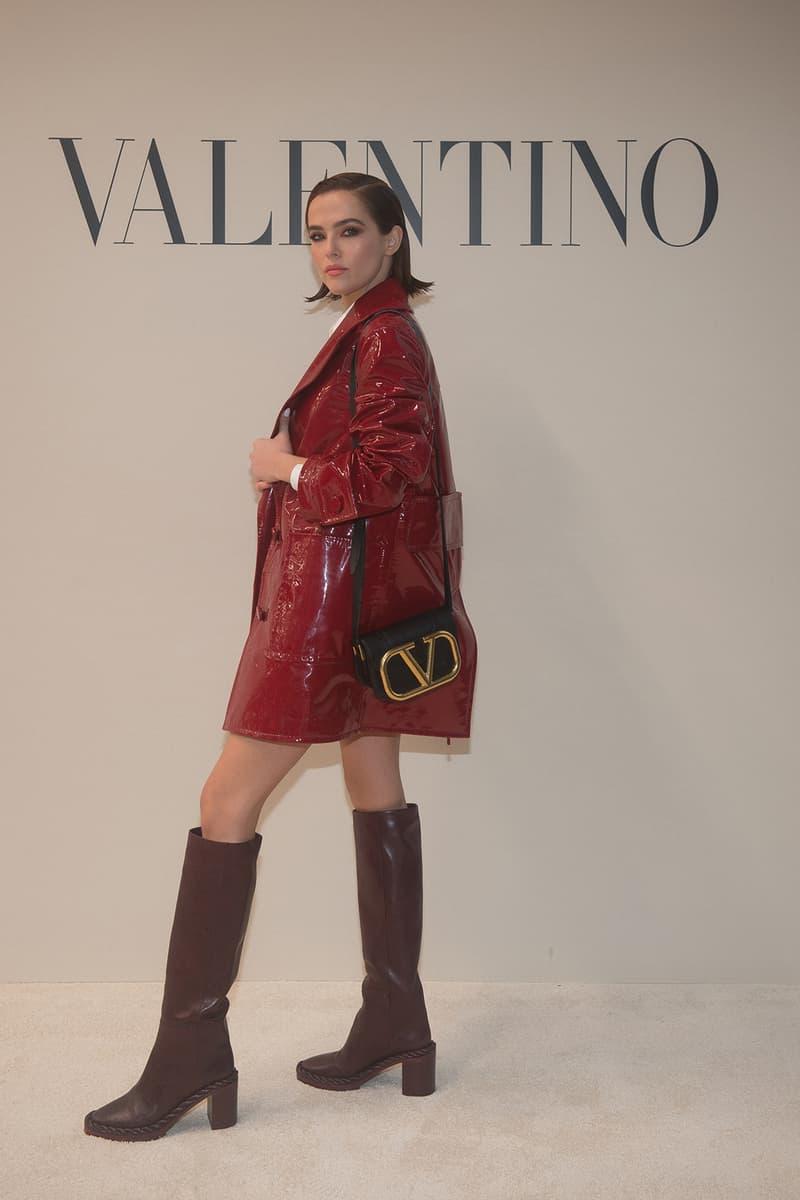 paris fashion week celebrity looks valentino zoey deutch