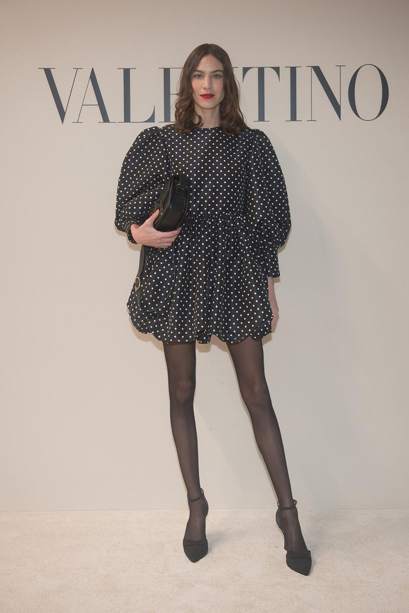 paris fashion week celebrity looks valentino alexa chung
