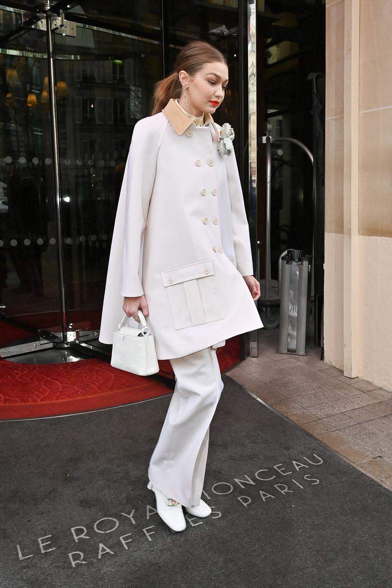 paris fashion week celebrity looks louis vuitton gigi hadid