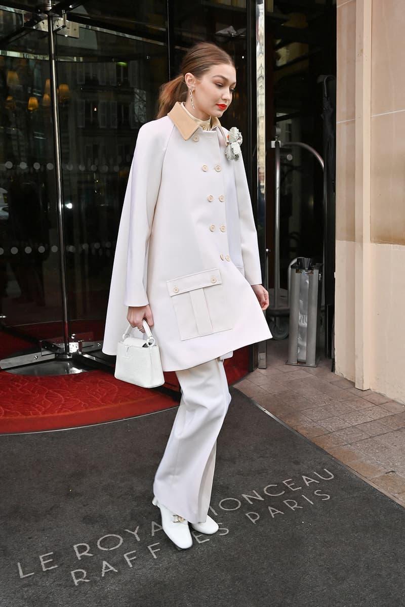 paris fashion week celebrity looks louis vuitton gigi hadid