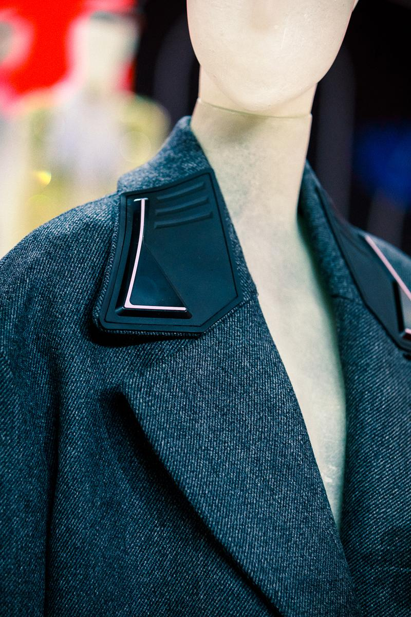 prada fall winter collection milan fashion week miuccia closer look jackets belts bags scarves headbands accessories