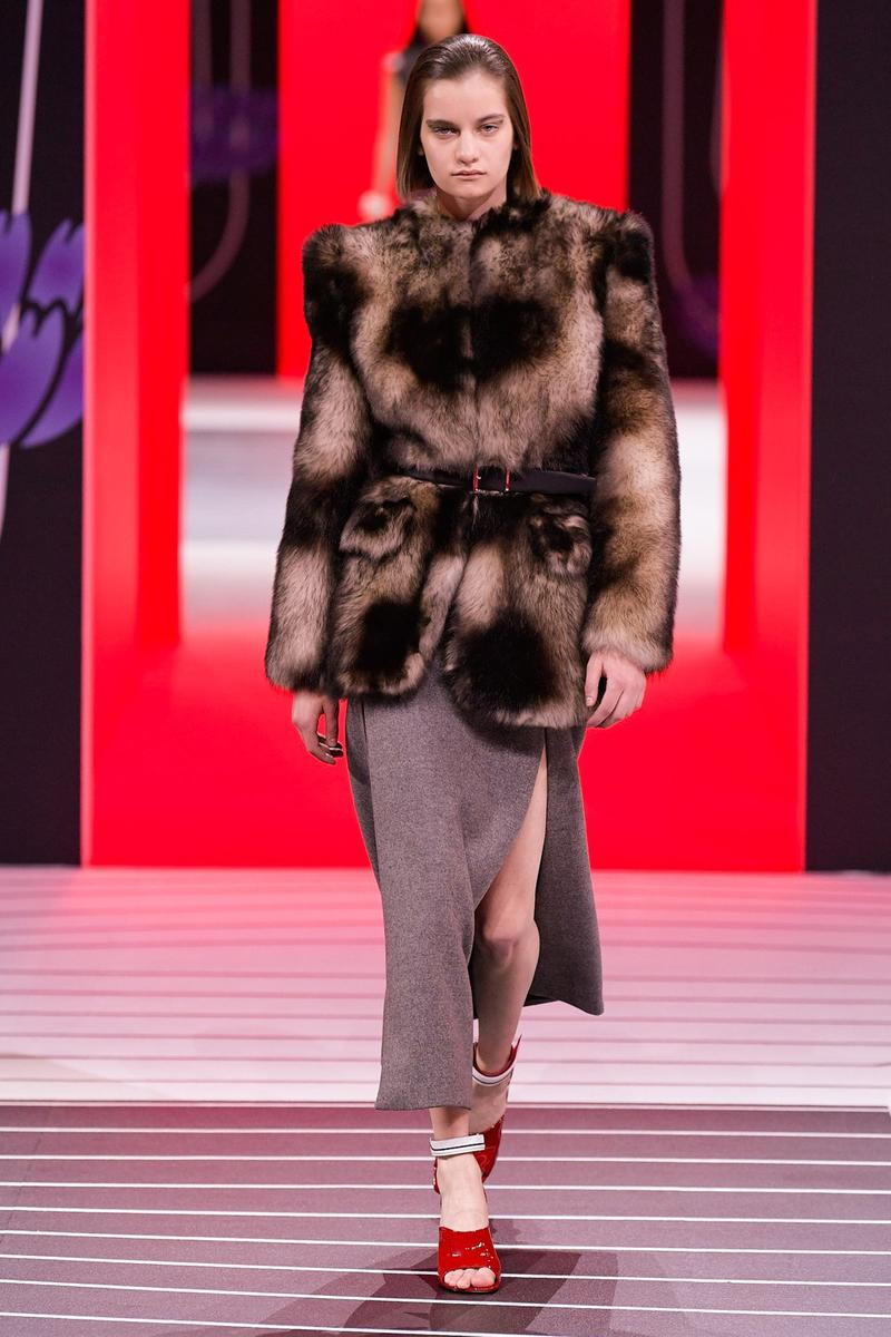 Prada Fall/Winter 2020 Collection Runway Show Fur Jacket