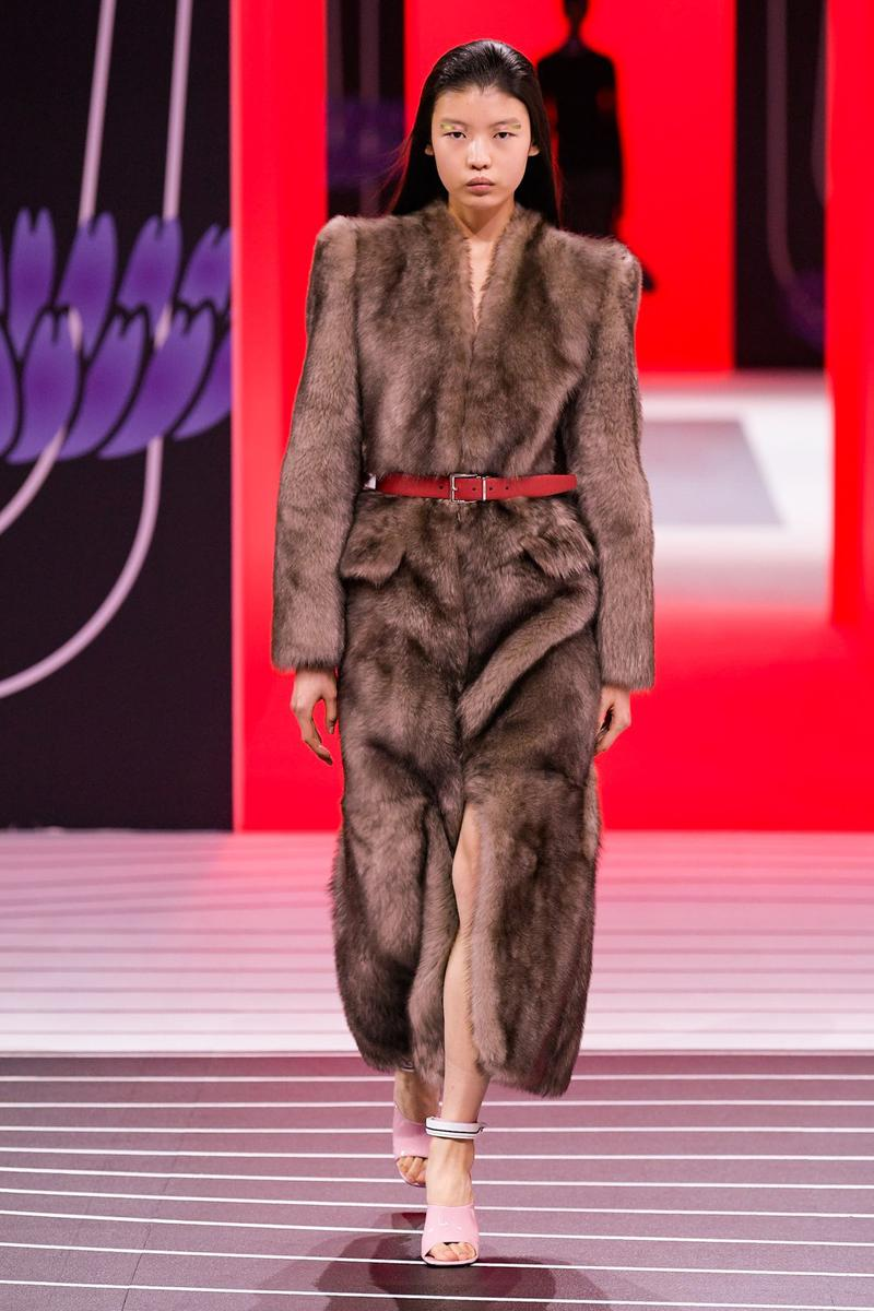 Prada Fall/Winter 2020 Collection Runway Show Fur Coat