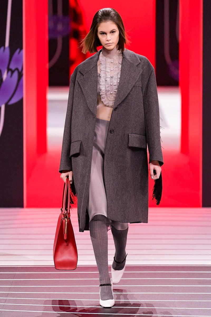 Prada Fall/Winter 2020 Collection Runway Show Coat Grey
