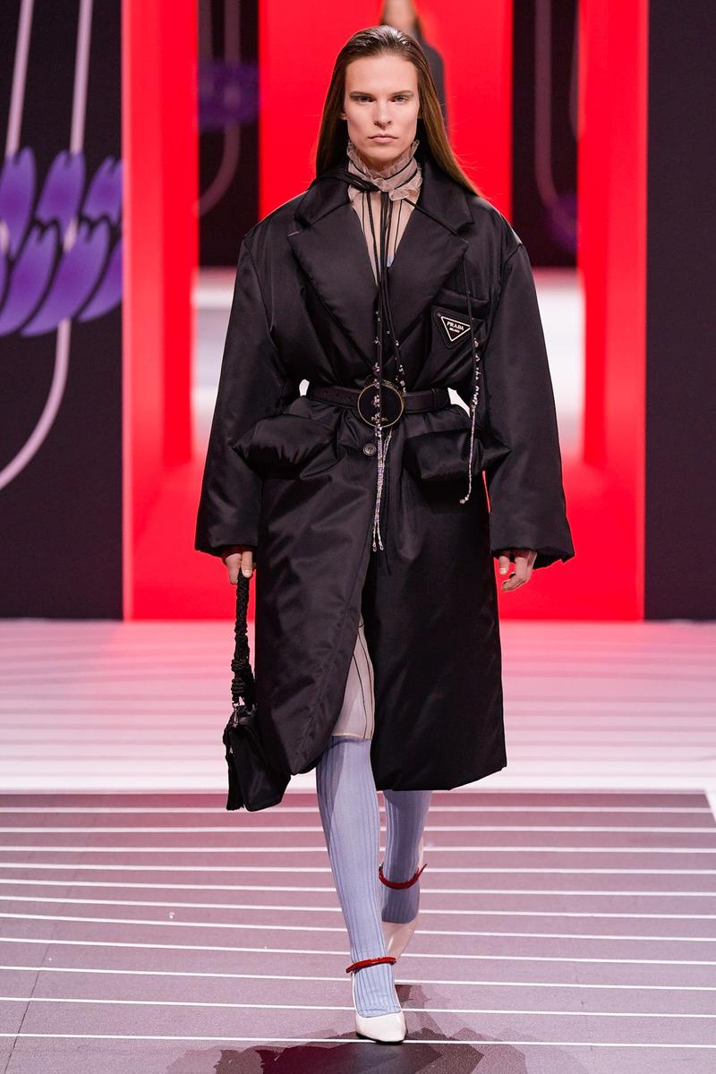 Prada Fall/Winter 2020 Collection Runway Show Nylon Coat