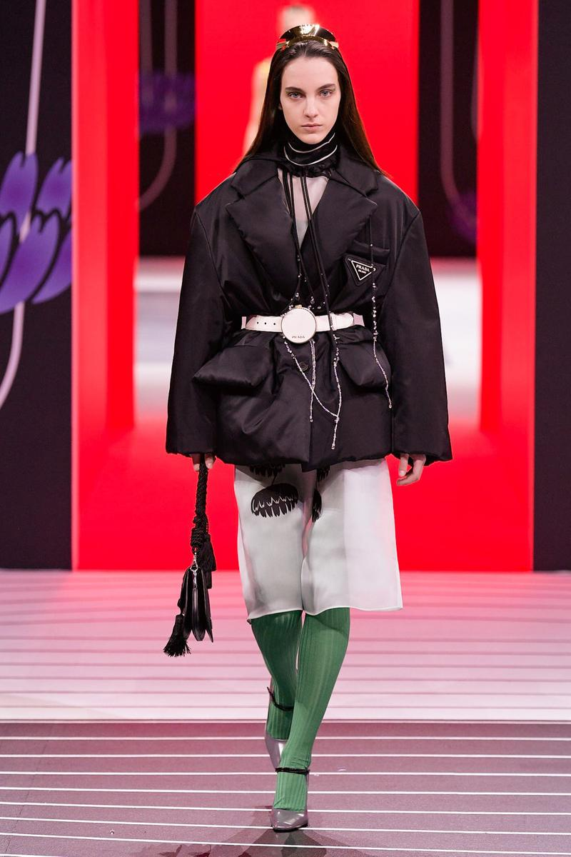 Prada Fall/Winter 2020 Collection Runway Show Nylon Jacket