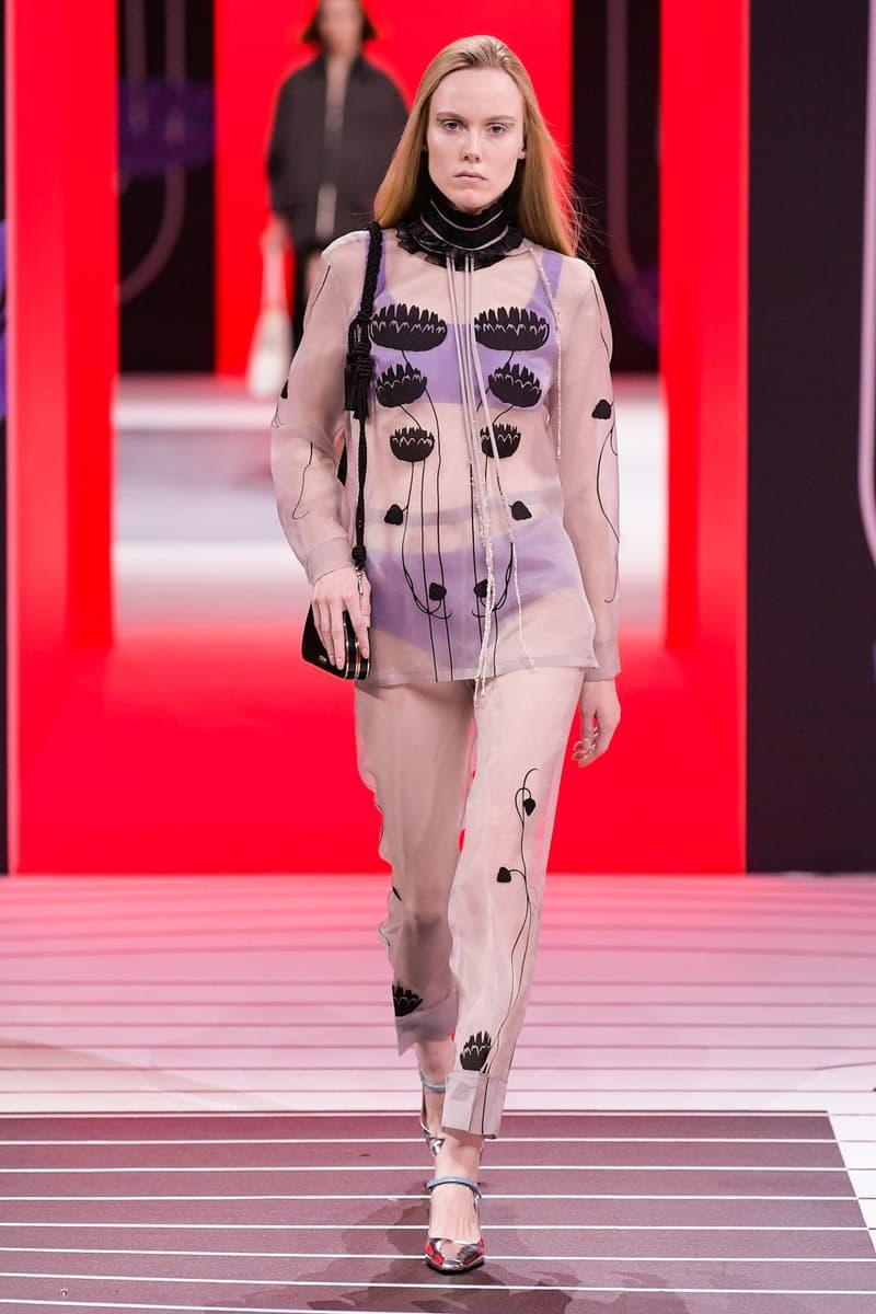 Prada Fall/Winter 2020 Collection Runway Show Sheer Pants Top