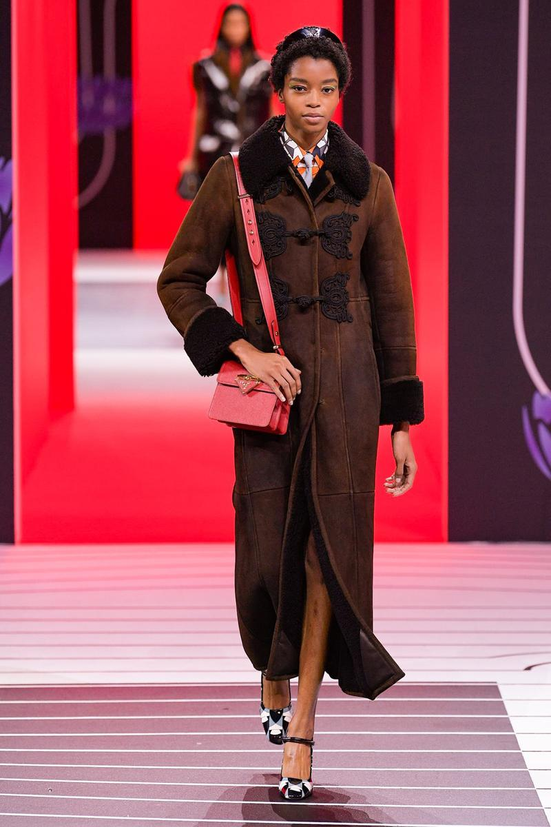Prada Fall/Winter 2020 Collection Runway Show Coat Brown