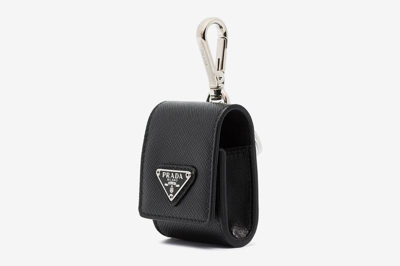 Prada Logo Leather Logo AirPod Case
