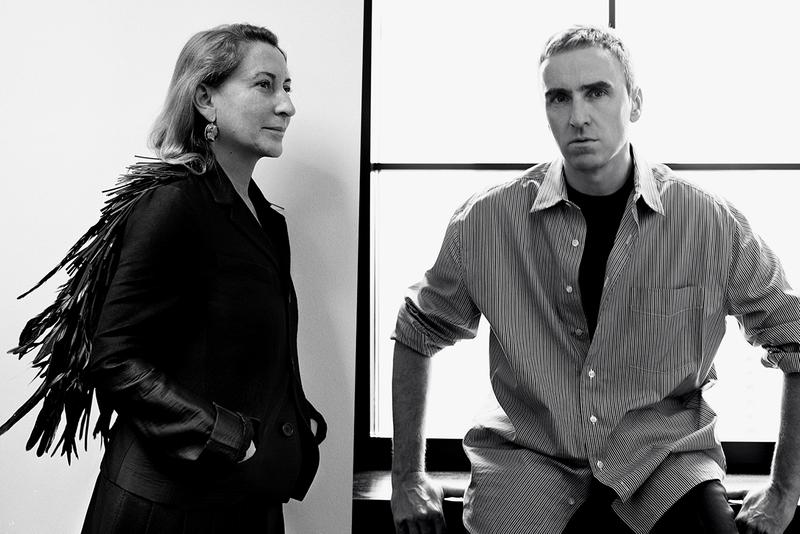 Raf Simons Miuccia Prada Co Creative Directors Designers Portrait Black and White