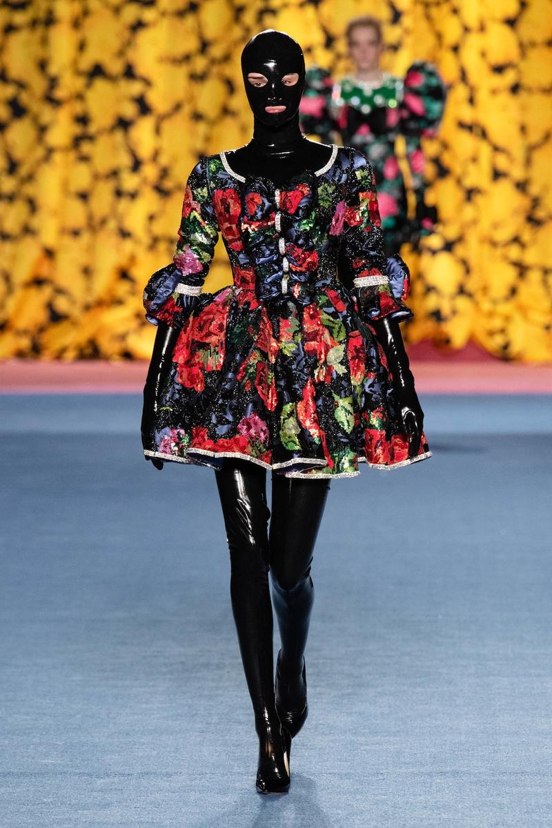 richard quinn london fashion week lfw fall winter collection dresses