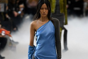 Picture of Rick Owens Introduces Pops of Blue, Red and Green to FW20 Collection
