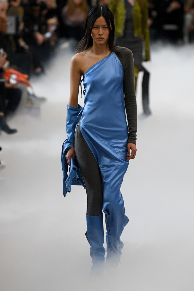 Rick Owens Fall/Winter 2020 Collection Runway Show Dress Blue