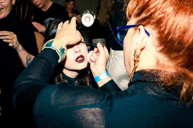 rodarte fall winter new york fashion week nyfw backstage beauty hair makeup