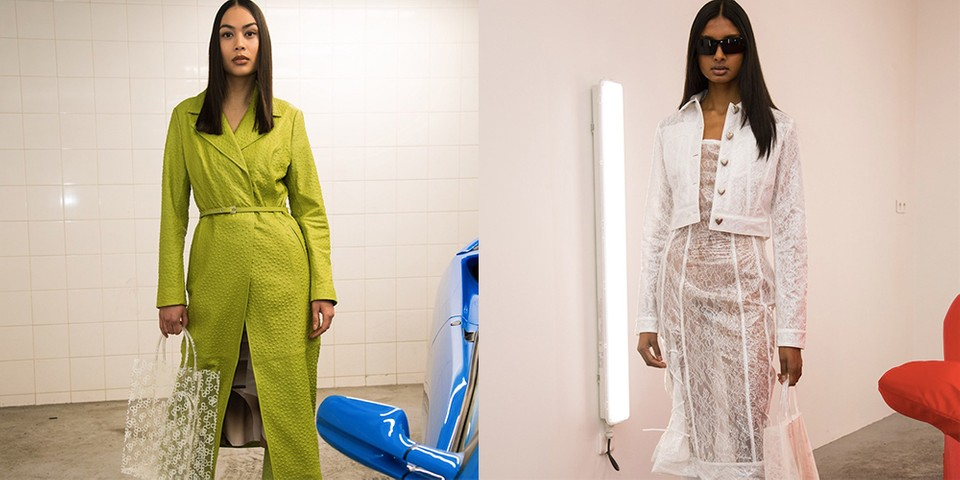 Motocross Leather Suits and Transparent Lace Take Over Saks Potts' FW20 Collection