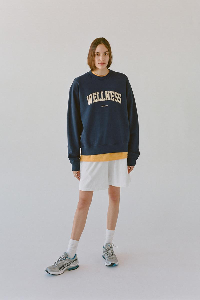 sporty and rich emily oberg spring collection wellness club health sweater t shirts