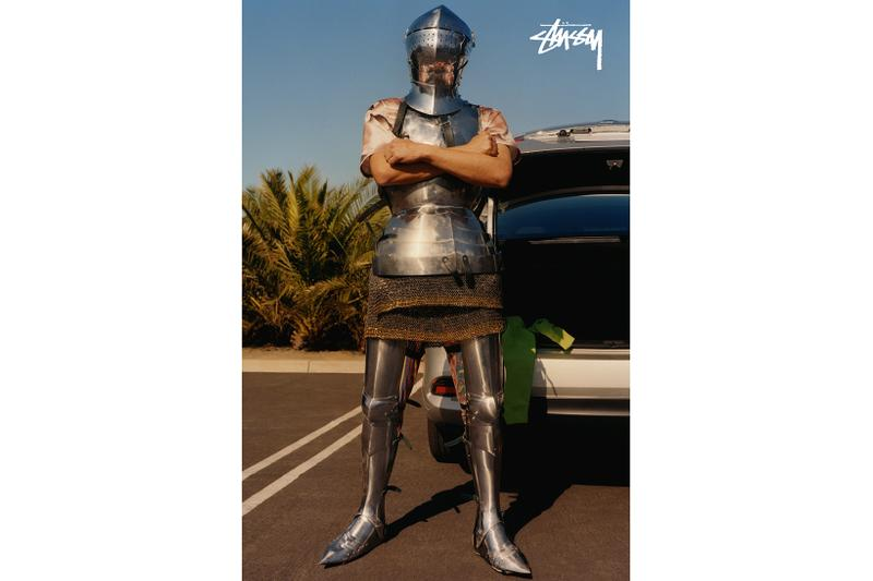 stussy spring 2020 californian knights campaign joust duel surrealism