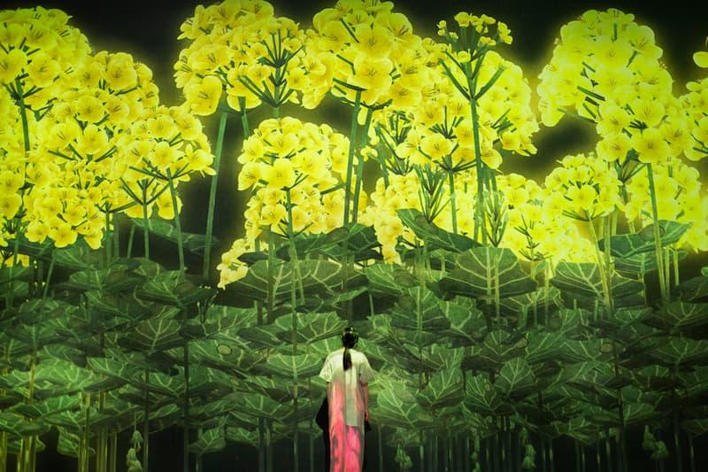 teamlab future world exhibition singapore artscience museum digital artwork the way of birds hideaki takahashi neon lights