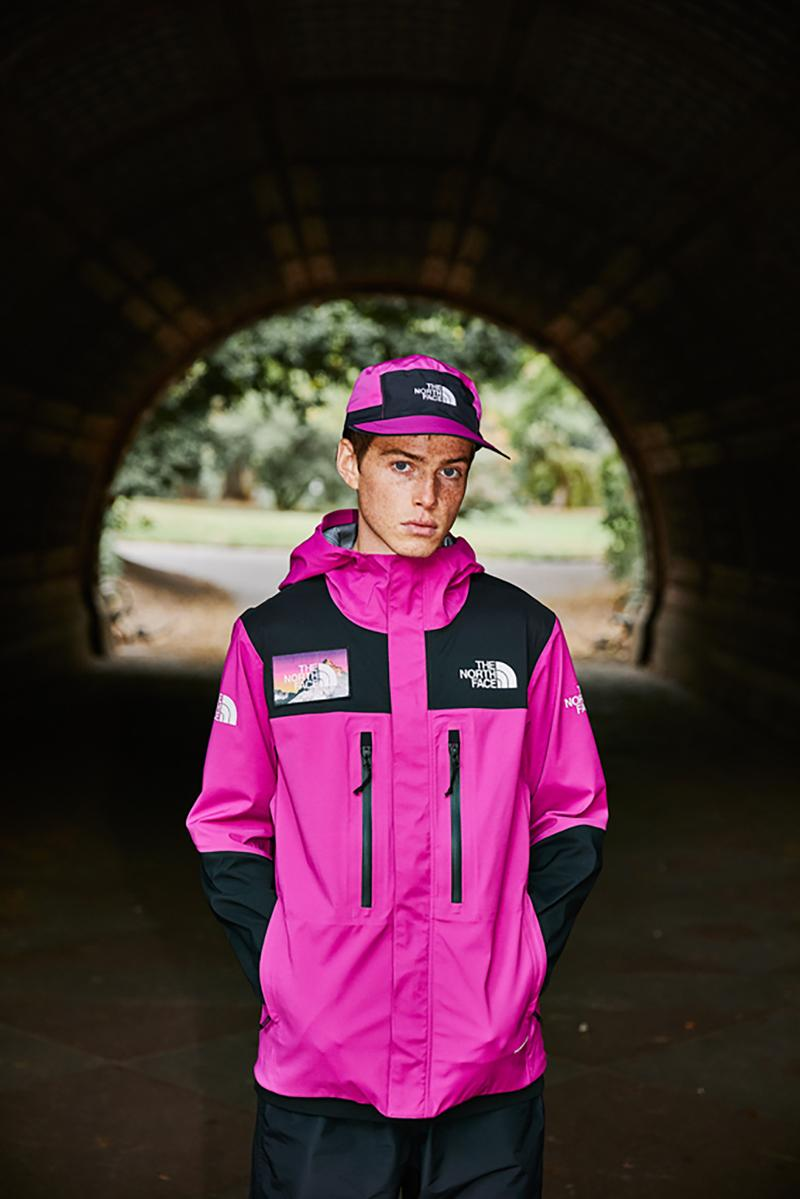 the north face seven summits collection recycled material sustainability jackets shirts pants hats pink black